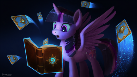 Hearthstone and Book Horse by Robsa990