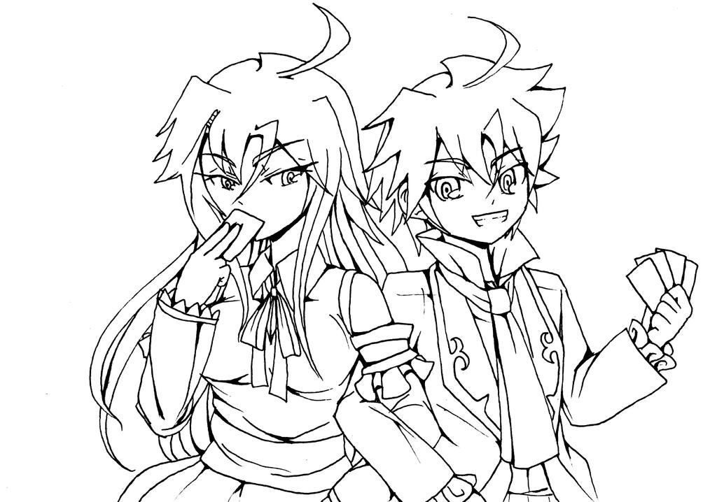 D Line Drawings Locations : Lineart sister and brother by crazytreasurestudio on