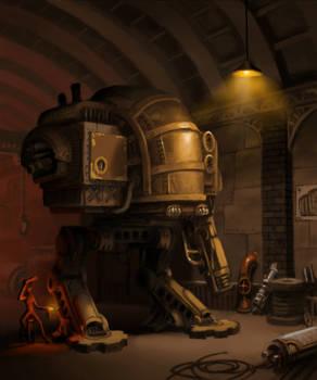 steampunk mecha