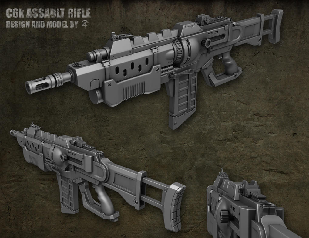 C6k Assault Rifle 3D High-Poly by ZackF