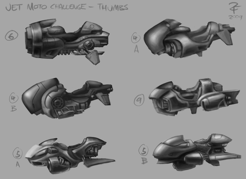 Hoverbike Design Thumbs by ZackF