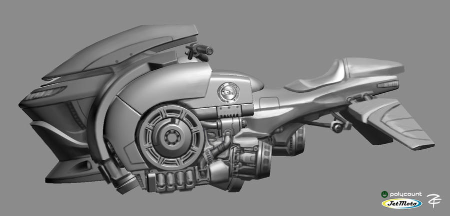Hoverbike Final Concept by ZackF