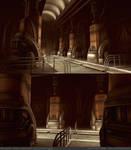 Art Deco Tech Hallway WIP