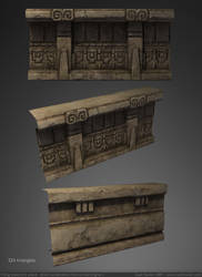 Temple Trim Piece 3D