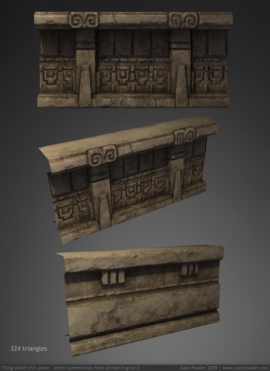 Temple Trim Piece 3D by ZackF