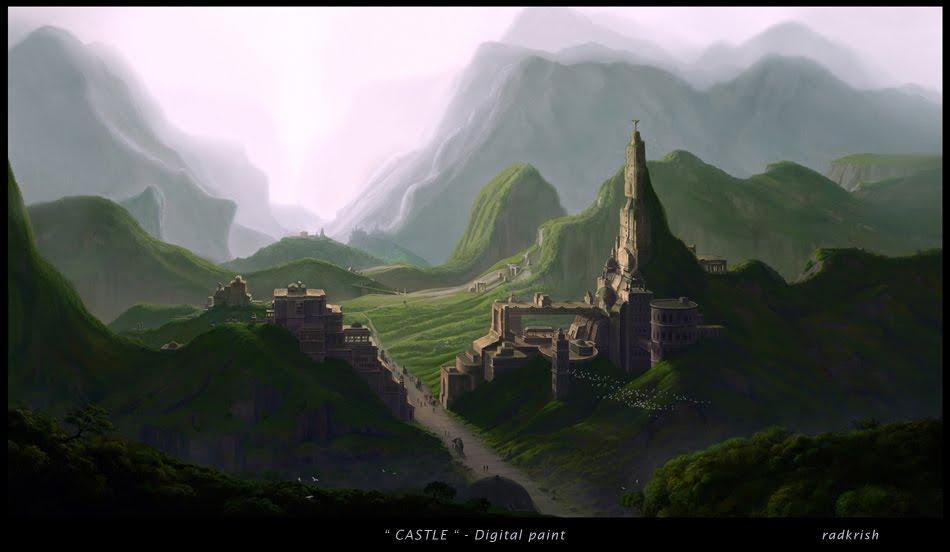 CASTLE - digital paint by rakkin23