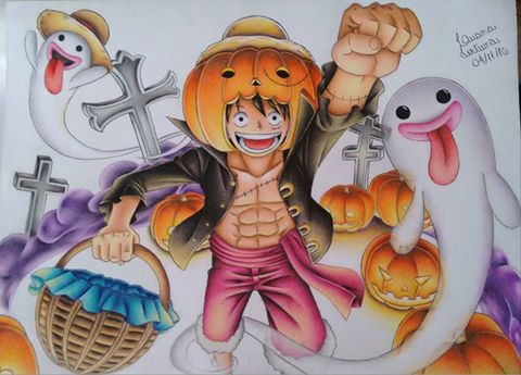 Halloween Luffy - One Piece by LuanaFortuna