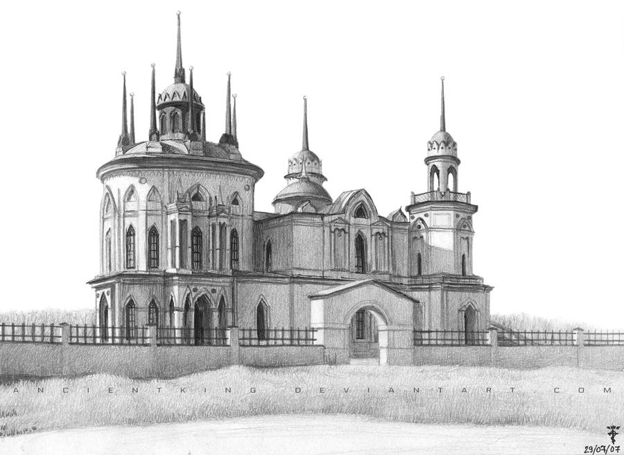 Neo Gothic Church Sketch By AncientKing