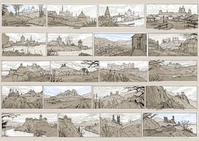 Villages sketches - 3 by AncientKing