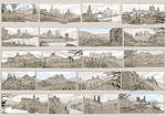 Villages sketches - 3