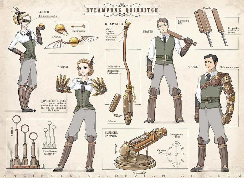 Steampunk Quidditch by AncientKing