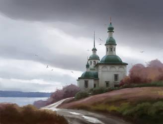 Church. Autumn by AncientKing