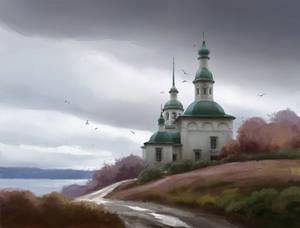 Church. Autumn