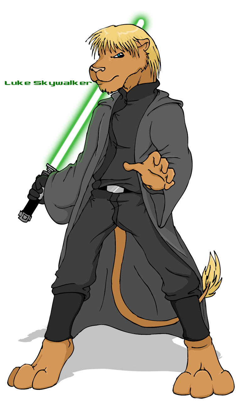 Jedi Skywalker -anthro- by raitora