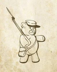 Civil War Teddy Bear by Mechanismatic