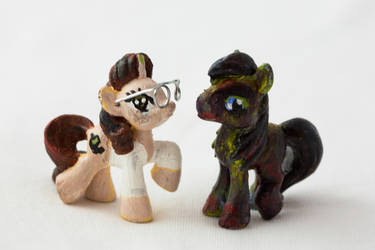 The Re-ponynator with his Creation by avatarofchaos