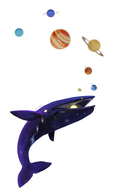 Comission (SpaceWhale) by katzendiosa