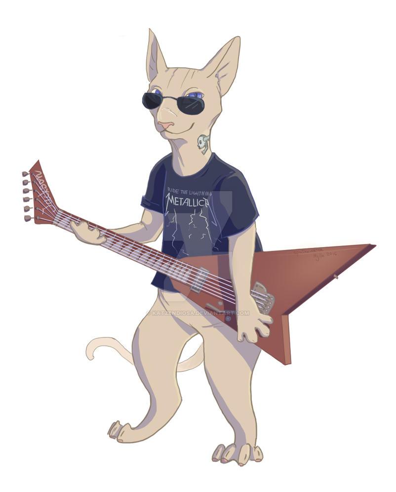 Sphinx with guitar by katzendiosa