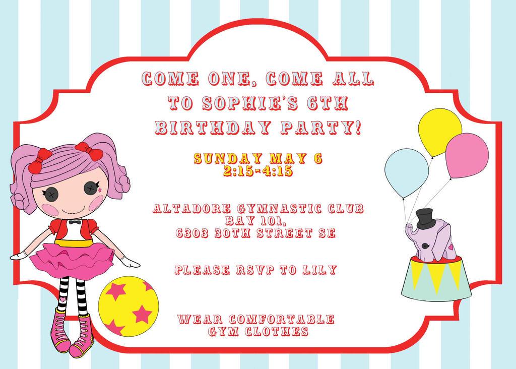 Lalaloopsy Invitation By JessicaEdwards