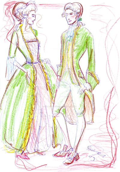 Fashion sketch: 18th Century by rum-inspector