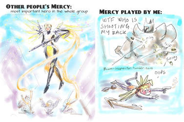 Playing Mercy in Overwatch