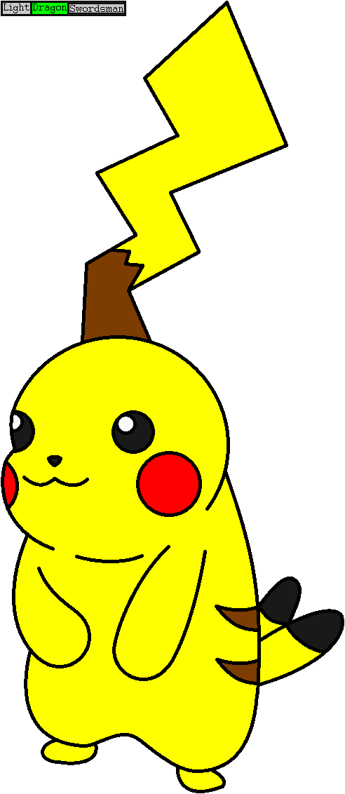 ibispaint x drawing before glitched pikachu ms paint re by lightdragonswordsman