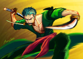 Day 1: Roronoa Zoro, Pirate Hunter