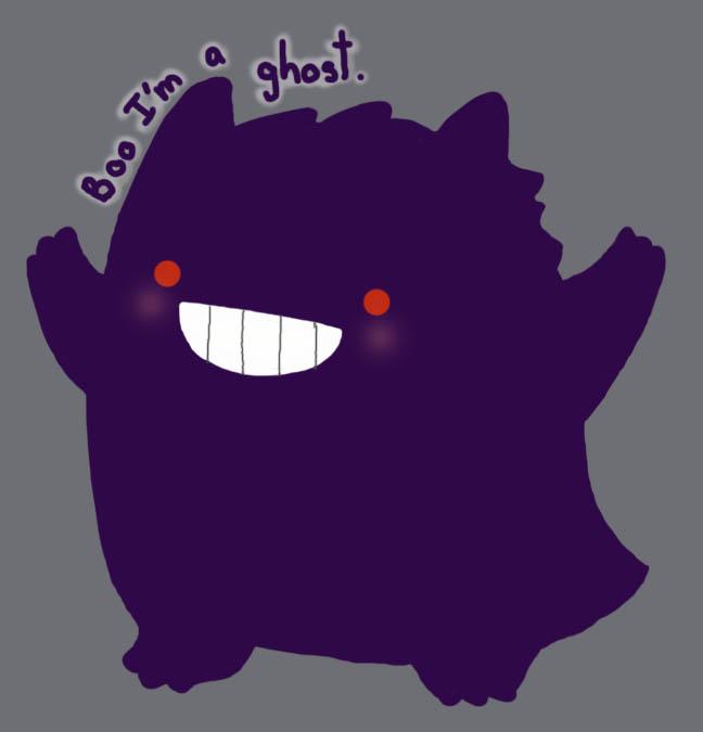 Boo Gengar by KalopsiaCreation