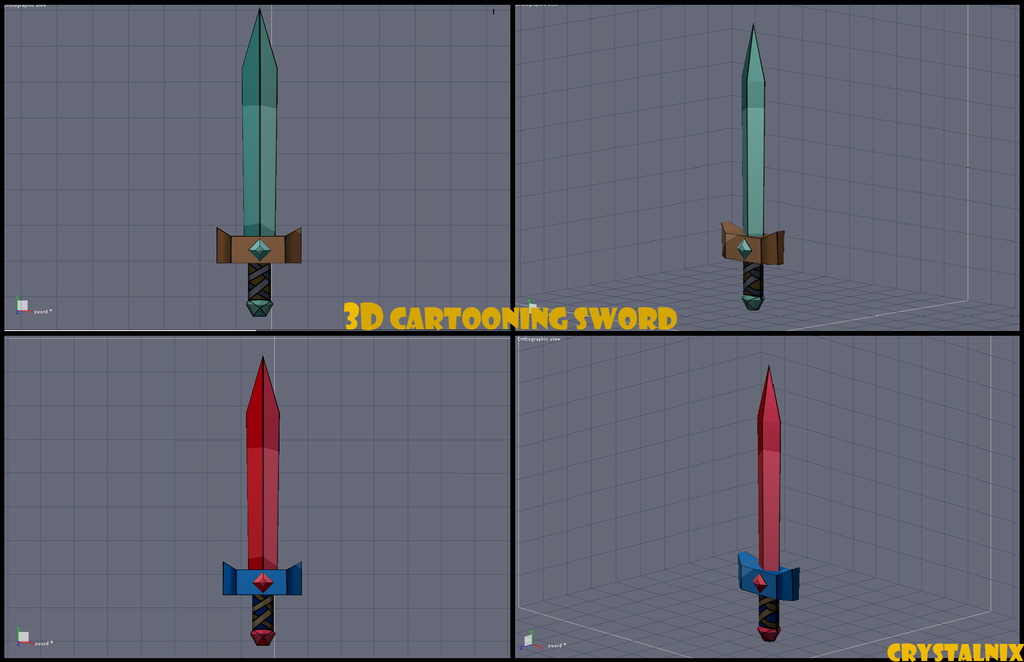 Selling 3D Sword OPEN by CrystalNIX