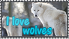 I love wolves stamp by Ice-In-Heart