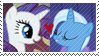 REQUEST:  RarityxTrixie Stamp by inkypaws-productions