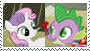 REQUEST: SpikeBelle Stamp by inkypaws-productions