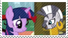 REQUEST: TwilightxZecora Stamp by inkypaws-productions
