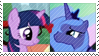 REQUEST:  TwilightxLuna Stamp by inkypaws-productions