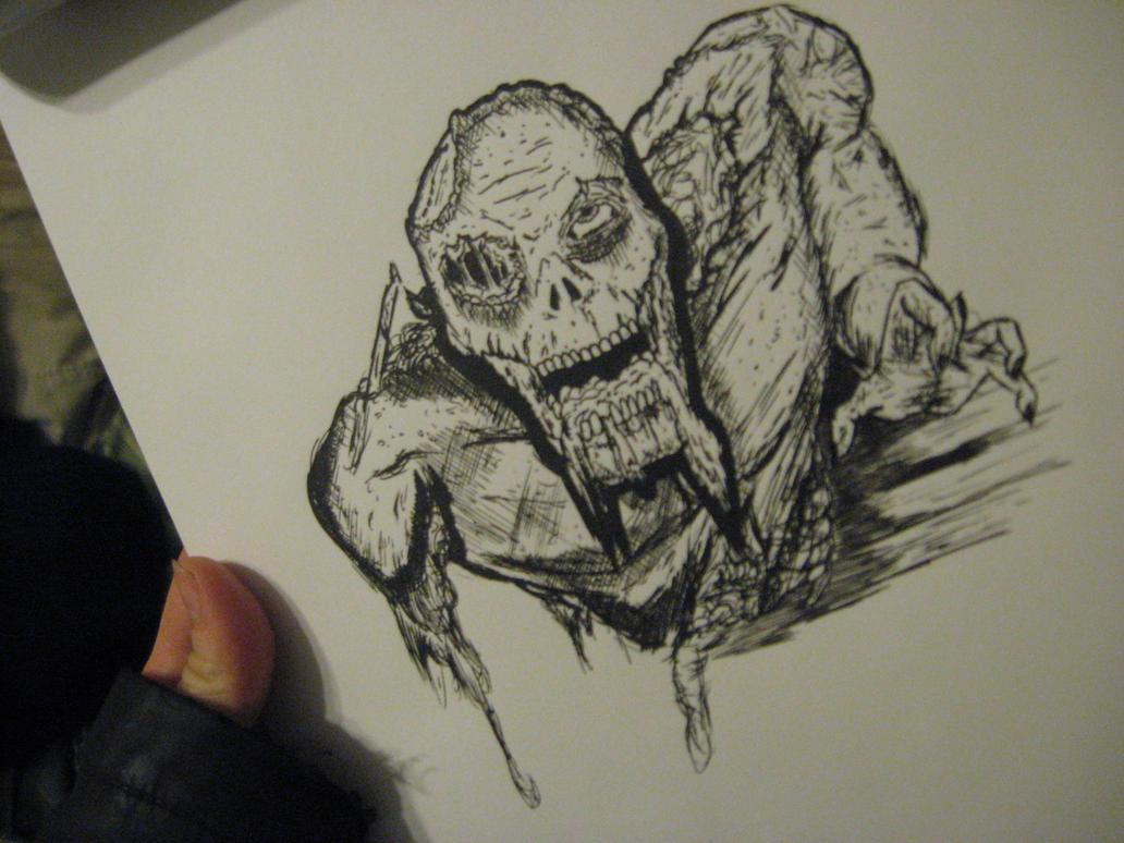 Zombie Doodle by JeffreyTrudeau