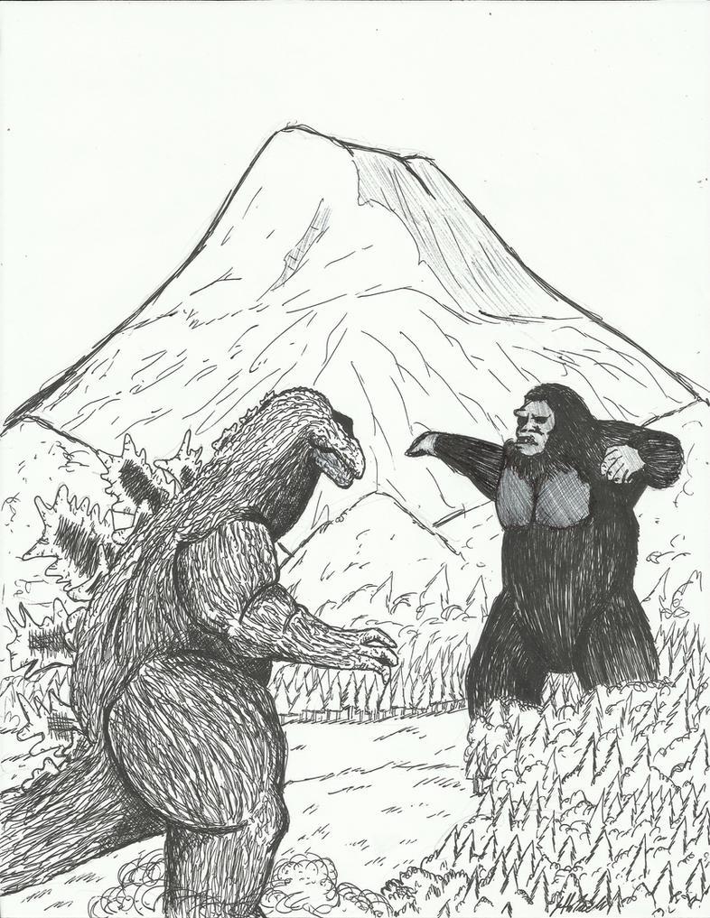 King Kong Vs Godzilla by JeffreyTrudeau