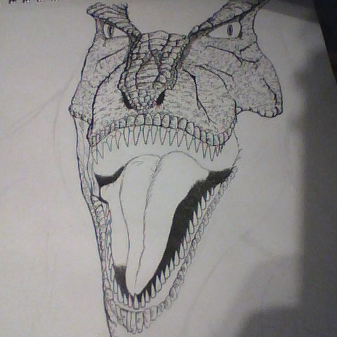 Dino Crisis T-Rex WIP Day 2 by JeffreyTrudeau