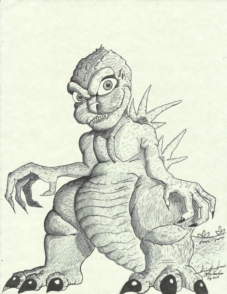 Tiny Godzilla by JeffreyTrudeau