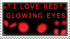 Red glowing eyes stamp by katthekat