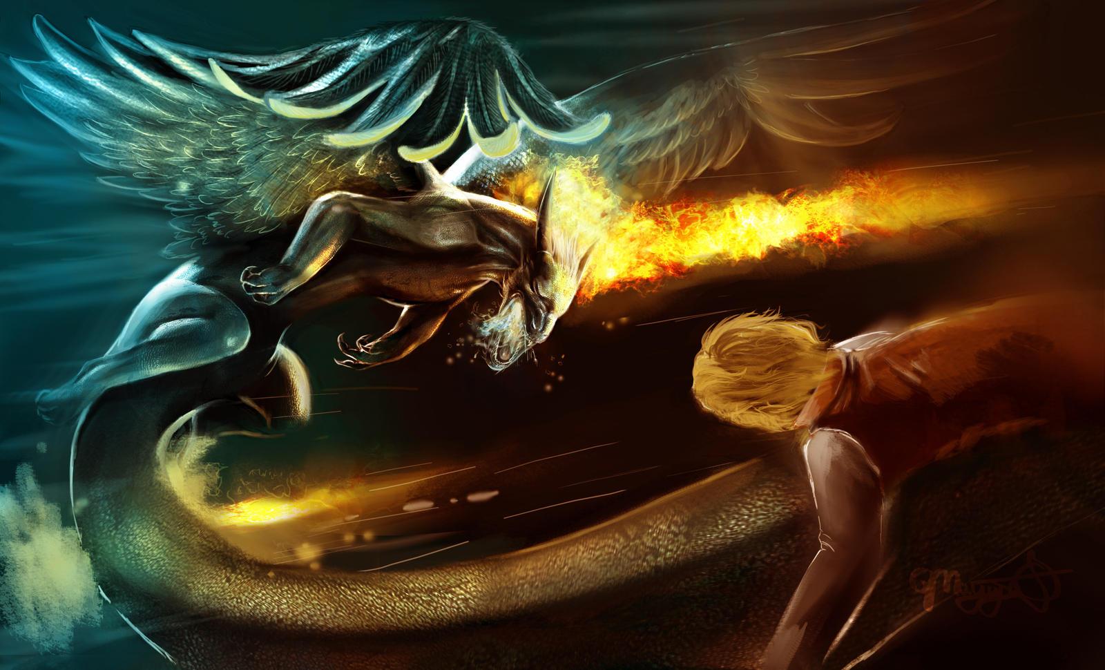 Saphira and Eragon to