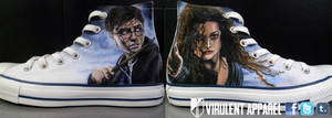 Harry Potter shoes by VirulentApparel