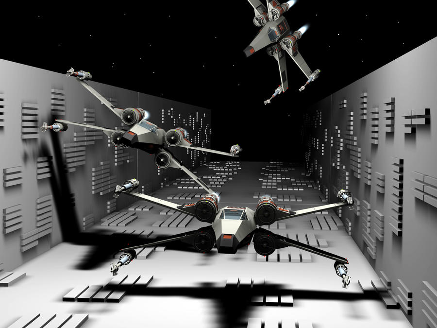 x-wing death star trench run by minimacman15 on DeviantArt
