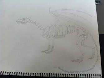 Dragon Skeleton by three-day-horizon