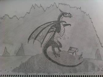 Cave Dragon by three-day-horizon