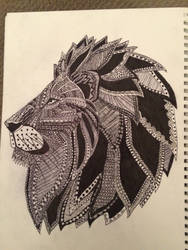 Lion head by three-day-horizon
