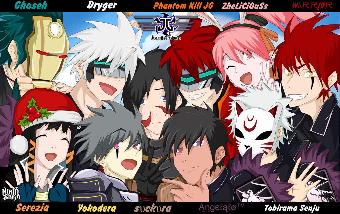 Anime Group Selfie By Zikritetsu