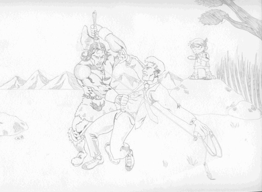 Conan battle by onizuka43