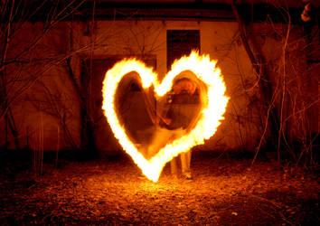 flaming heart by DrunkenSandwich
