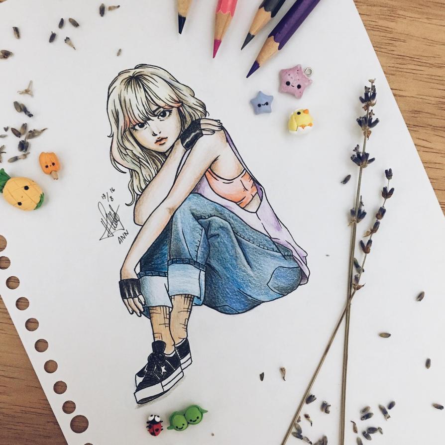 Blackpink Lisa Fanart by pxrpleamethyst on DeviantArt