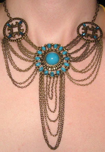 Turquoise chandelier necklace by sugarsparkles on deviantart turquoise chandelier necklace by sugarsparkles aloadofball Gallery